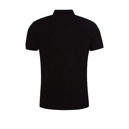 Black Fine Piqué Polo Shirt
