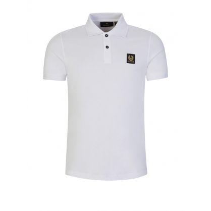 White Slim-Fit Polo Shirt