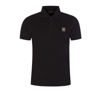 Black Slim-Fit Polo Shirt