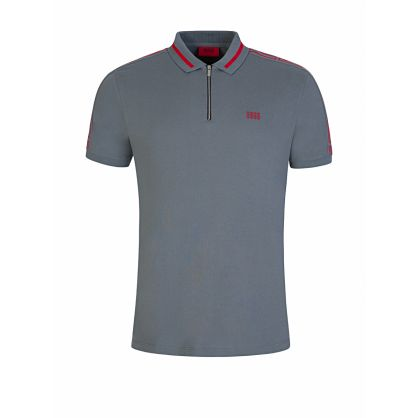 Grey Zip-Collar Dolmar203 Polo Shirt