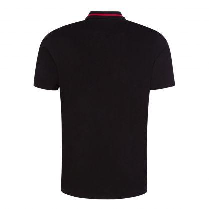 Black Dolmar213 Cropped-Logo Polo Shirt