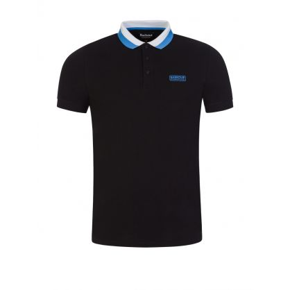 Black Tailored-Fit Ampere Polo Shirt