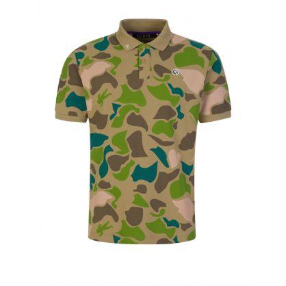 Camo All-Over Print Polo Shirt