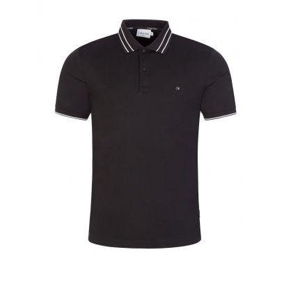 Black Liquid Touch Polo Shirt