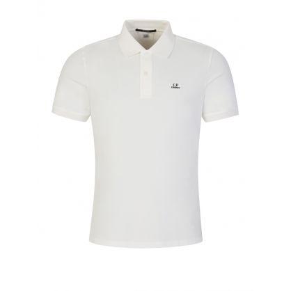 Cream Stretch Piquet Polo Shirt