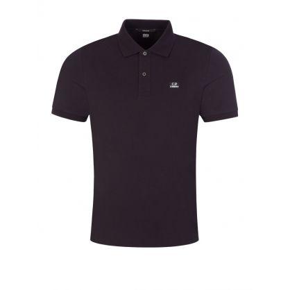 Black Stretch Piquet Polo Shirt