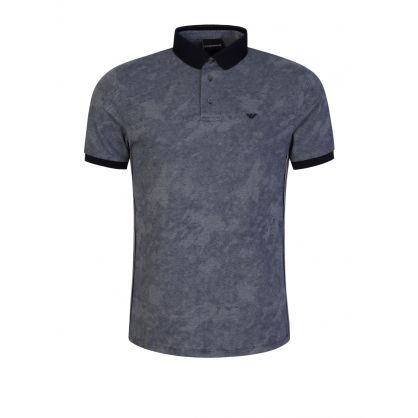 Navy Sky Tape Polo Shirt