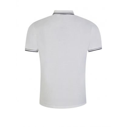 White Logo Tape Polo Shirt