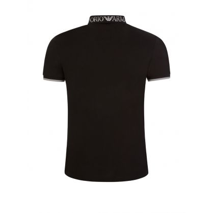 Black Logo Tipped Polo Shirt
