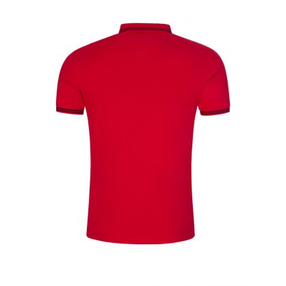 Red Tipped Collar Polo Shirt