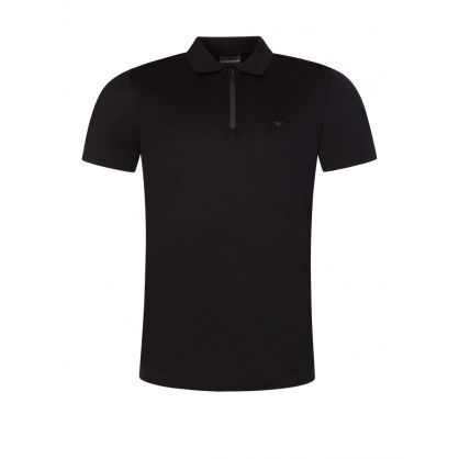 Black Travel Essential Polo Shirt