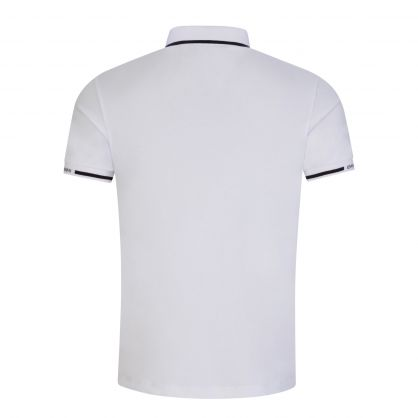 White Mercerised Piqué Cotton Polo Shirt