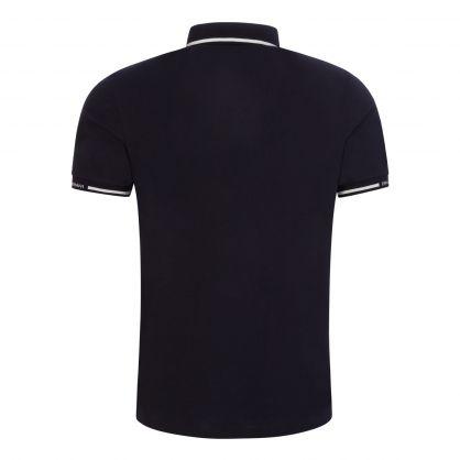 Navy Stretch Piqué Polo Shirt
