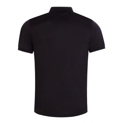 Black Tencel Blend Polo Shirt