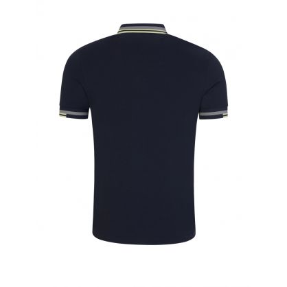 Dark Airforce Navy Abstract Tipped Polo Shirt