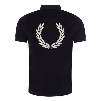 Navy Towelling Polo Shirt