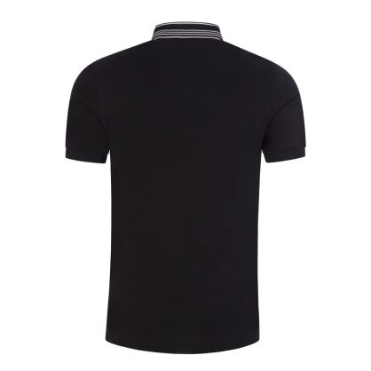 Black Stripe Collar Polo Shirt