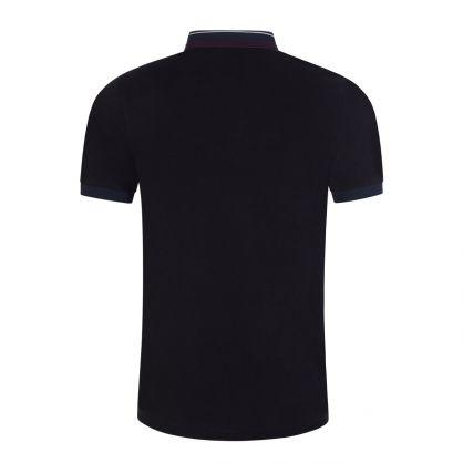 Navy Stripe Collar Polo Shirt