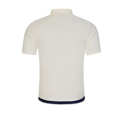 Cream Pique Button-Through Polo Shirt