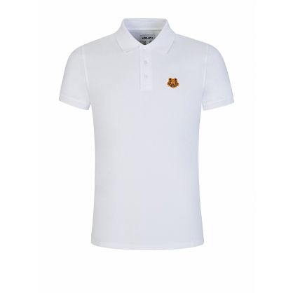 White Tiger Crest Polo Shirt