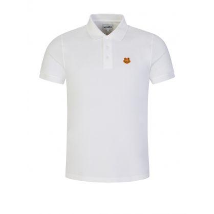 White Tiger Crest Logo Polo Shirt
