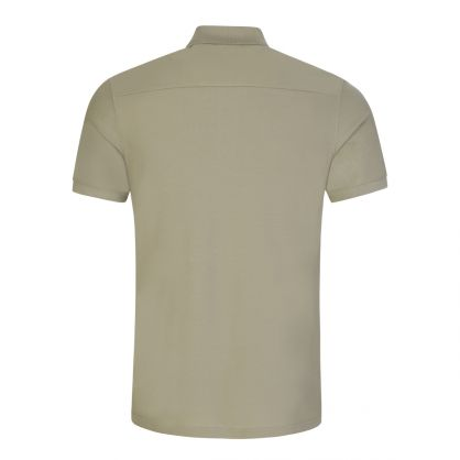 Green Cotton Pique Troy Polo Shirt
