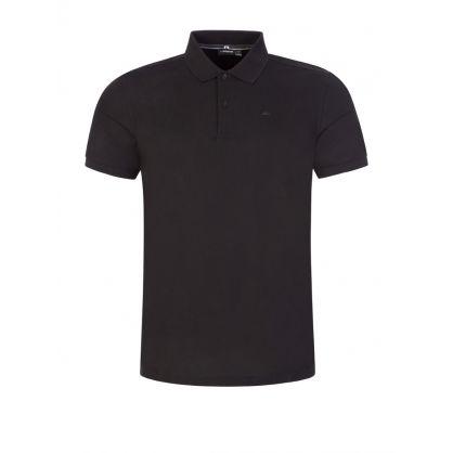 Black Troy Pique Polo Shirt