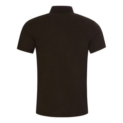 Dark Green Troy 1/4 Zip Polo Shirt