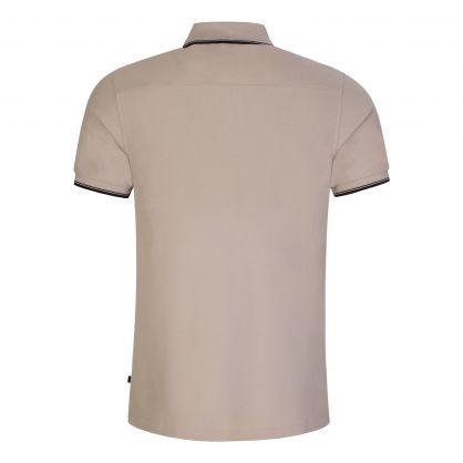 Brown Slim-Fit River Collar Tip Polo Shirt