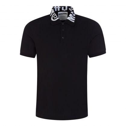 Black Symbols Logo Collar Polo Shirt
