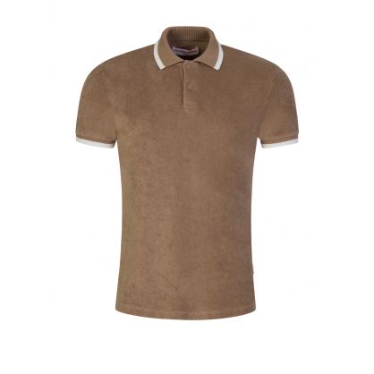 Brown Jarrett Towelling Polo