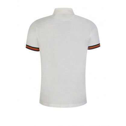 White Slim-Fit 'Artist Stripe' Polo Shirt