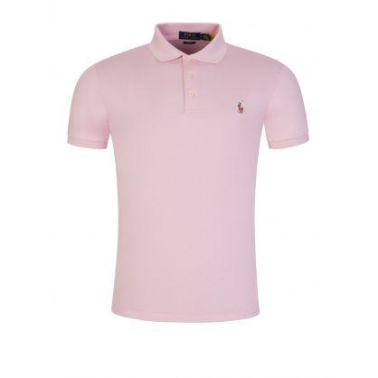Pink Pima Cotton Polo Shirt