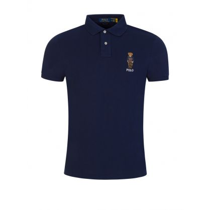 Navy Polo Bear Cotton Polo