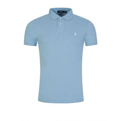 Blue Slim-Fit Essential Mesh Polo Shirt