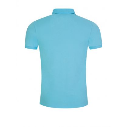 Blue Slim Mesh Polo Shirt
