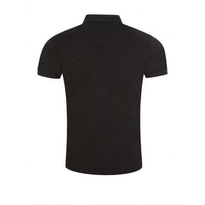 Black Slim-Fit Stretch Mesh Polo Shirt