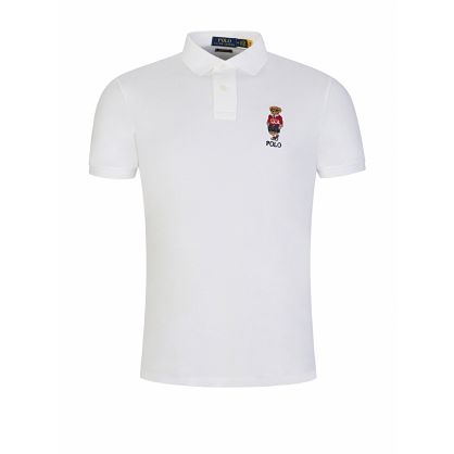 White Sport Bear Polo Shirt