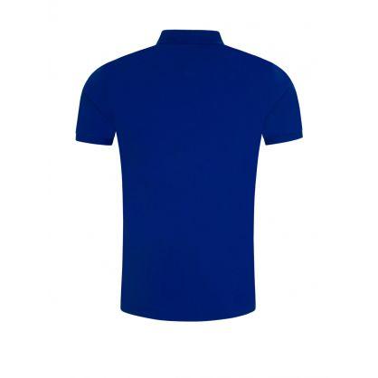 Dark Blue Slim-Fit Stretch Mesh Polo Shirt