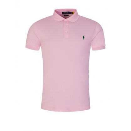 Pink Stretch Mesh Polo Shirt