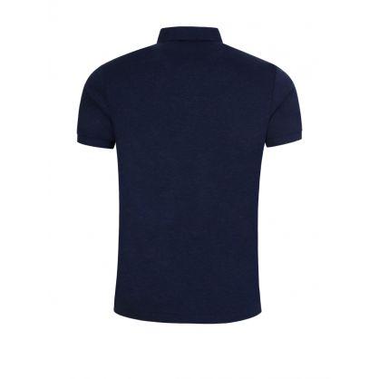 Navy Custom Slim Fit Polo Top