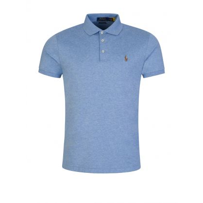Blue Custom Slim Fit Polo Top