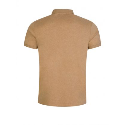 Brown Custom Slim Fit Polo Top