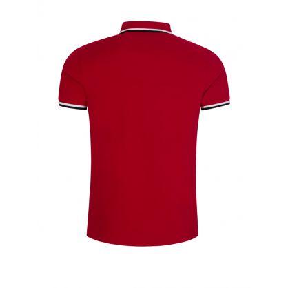 Red Mesh Polo Shirt