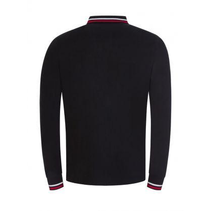 Black Mesh Polo Shirt