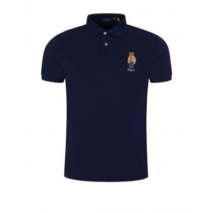 Navy Bear Polo Shirt