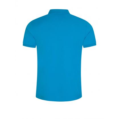 Bright Blue Stretch Mesh Polo Shirt