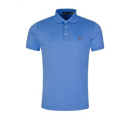 Blue Custom Slim-Fit Interlock Polo Shirt