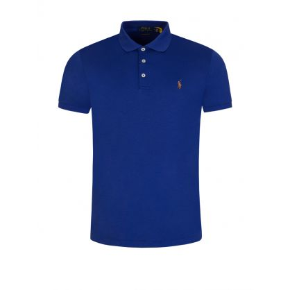 Blue Interlock Polo Shirt