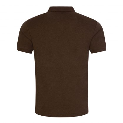 Brown Slim-Fit Cotton Polo Shirt